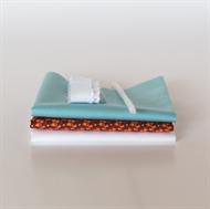 Image de Set pour robe de poupée supplémentaire - Marsala - Bleu clair