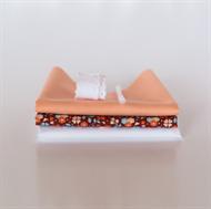 Afbeelding van Setje voor extra poppenjurk - Marsala - Pastel Roze
