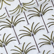 Image de Palms - Coton Linon - Blanc Cassé