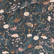 Image de Flower Field - M - French Terry - Bleu Nuit