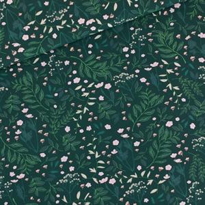 Picture of Flower Garden - M - French Terry - Darkest Spruce Green