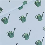 Image de Watering Cans - M - Sergé Gabardine de Coton - Bleu Brouillard