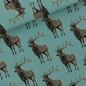 Picture of Deer - M - French Terry - Bleu Trellis