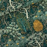 Image de Oriental Garden - M - Cotton Canvas Gabardine Twill - Vert pignon
